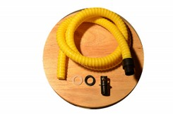 Hose with adapter